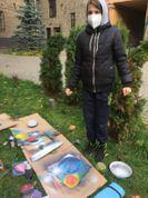Projekta laikā jaunieši piedalījās 2 meistarklasēs: Graffiti un mehendi zīmēšanā